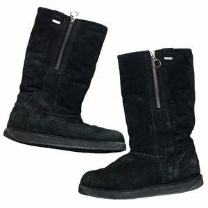 EMU Kiandra W10844 Black Suede Sheepskin Boots 9